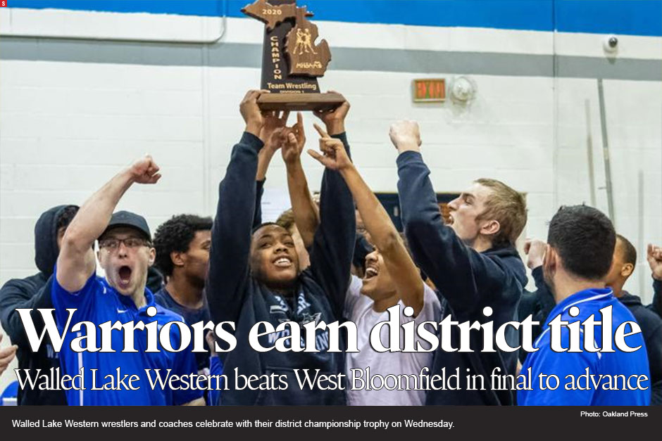 Walled Lake Western defeated West Bloomfield 48-32 in the finals to advance to next week's regionals.