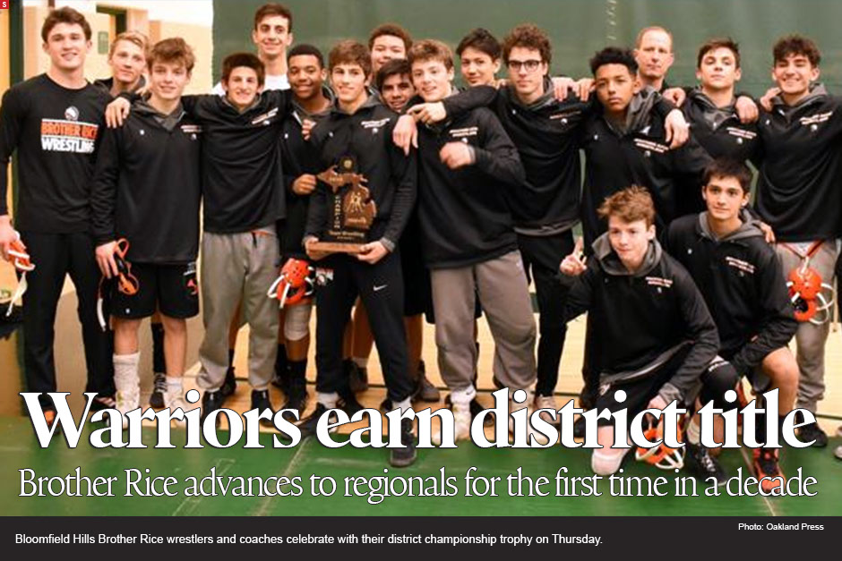 Brother Rice captures first district wrestling title in a decade