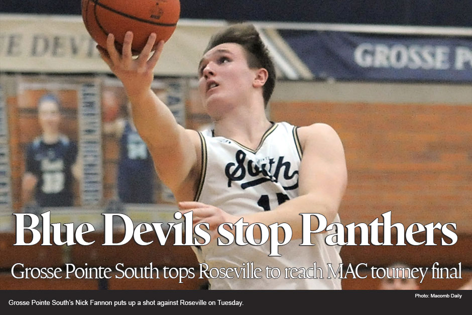 Grosse Pointe South defeats Roseville for MAC basketball tournament final berth