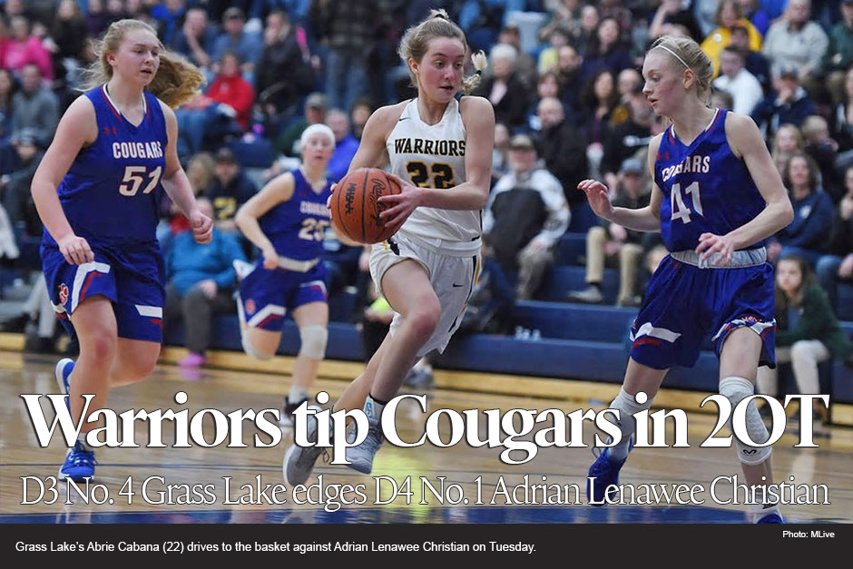 Grass Lake girls basketball beats top ranked Lenawee Christian