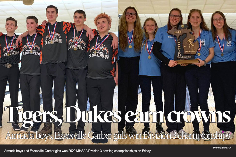 2020 MHSAA Division 3 bowling champions: Armada, Essexville Garber