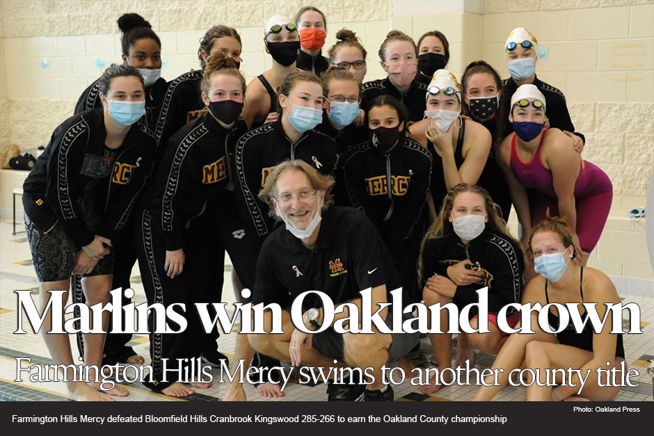 Mercy swims its way to another Oakland County title
