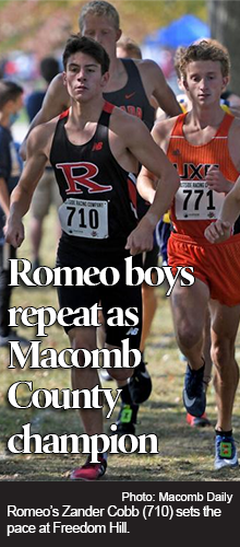 Romeo repeats county cross country championship while Nicoletti becomes Utica's first individual winner