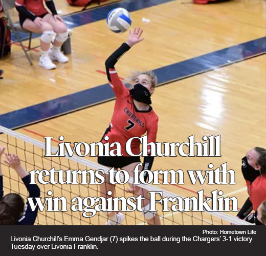 Livonia Churchill volleyball returns to form with win against Franklin